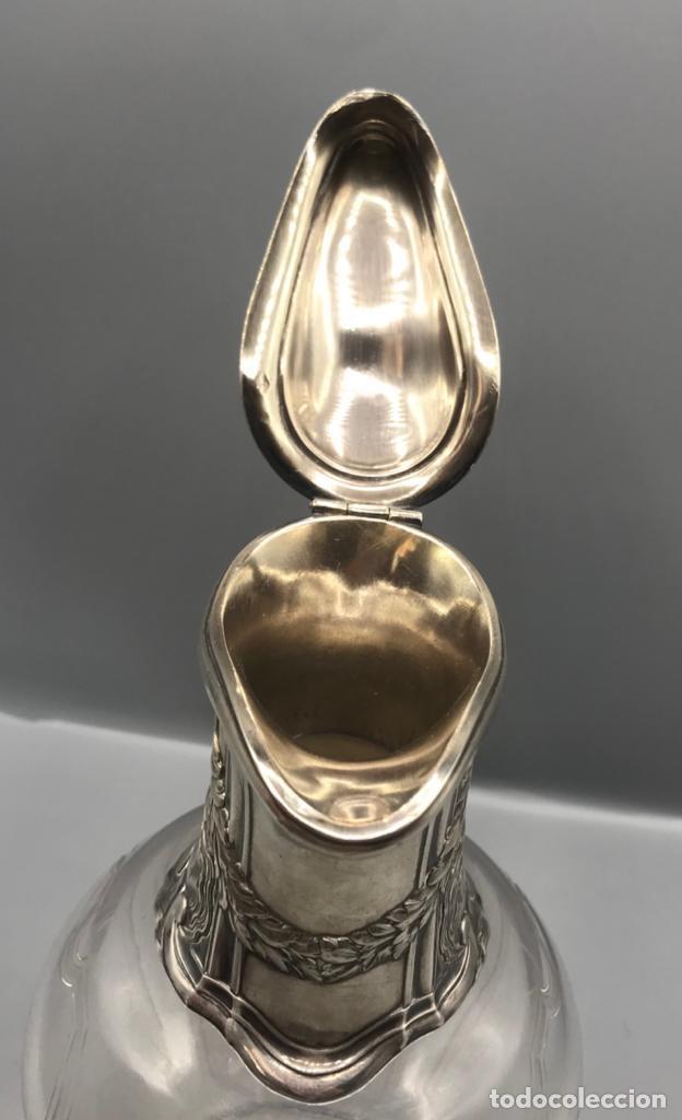 Antigüedades: Jarra para el Vino con boca ya asa de plata 925. - Foto 2 - 205565375
