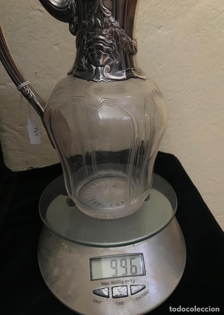 Antigüedades: Jarra para el Vino con boca ya asa de plata 925. - Foto 6 - 205565375