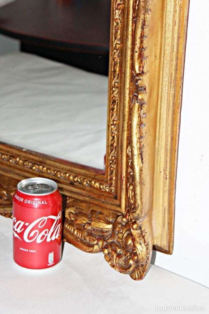 Antigüedades: Espejo marco de madera y pan de oro. 1940. 90 x 76 cm - Foto 6 - 205579938