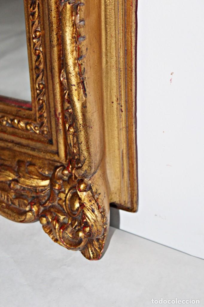 Antigüedades: Espejo marco de madera y pan de oro. 1940. 90 x 76 cm - Foto 10 - 205579938