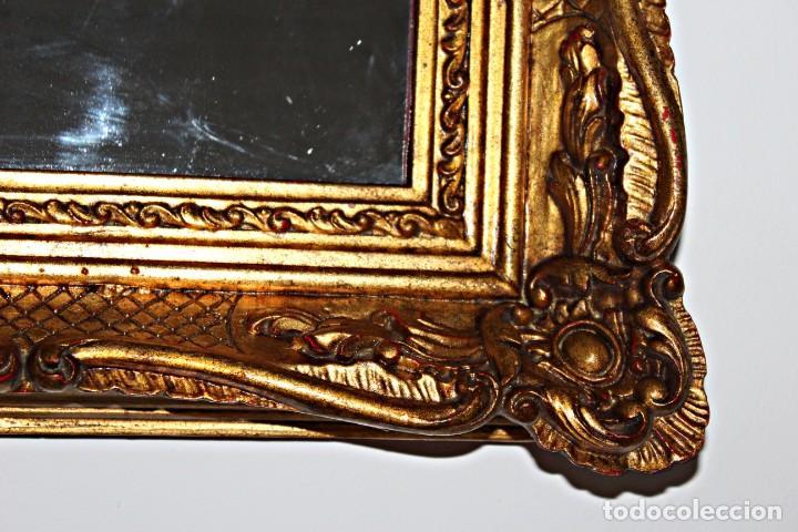 Antigüedades: Espejo marco de madera y pan de oro. 1940. 90 x 76 cm - Foto 11 - 205579938