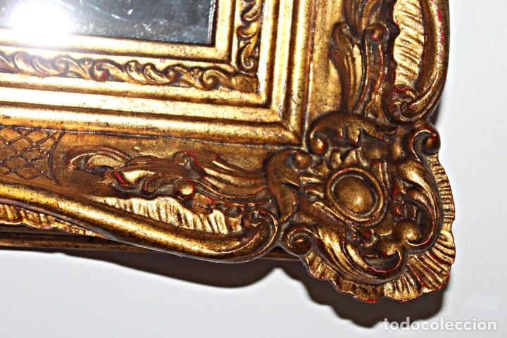 Antigüedades: Espejo marco de madera y pan de oro. 1940. 90 x 76 cm - Foto 13 - 205579938