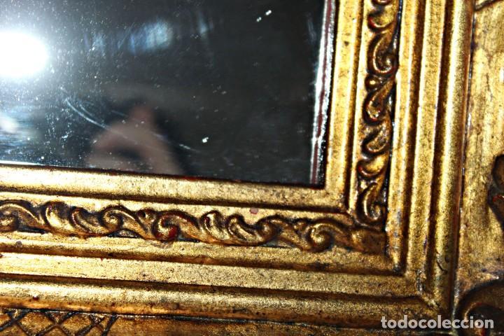 Antigüedades: Espejo marco de madera y pan de oro. 1940. 90 x 76 cm - Foto 14 - 205579938