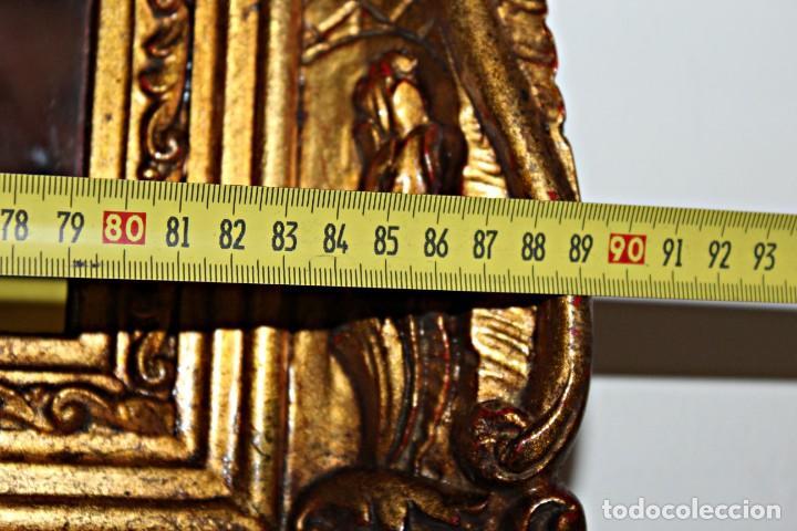 Antigüedades: Espejo marco de madera y pan de oro. 1940. 90 x 76 cm - Foto 15 - 205579938