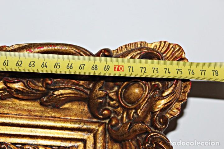 Antigüedades: Espejo marco de madera y pan de oro. 1940. 90 x 76 cm - Foto 16 - 205579938