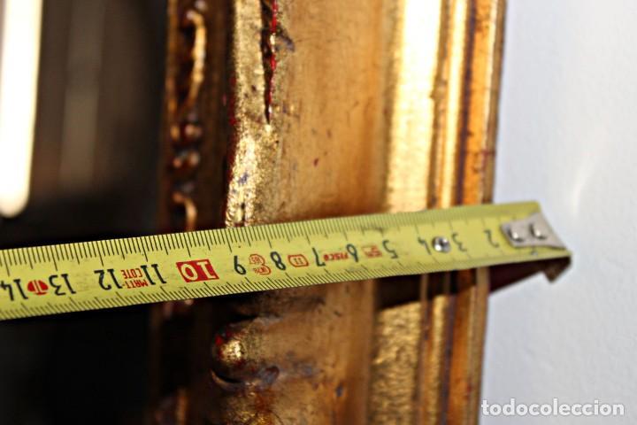 Antigüedades: Espejo marco de madera y pan de oro. 1940. 90 x 76 cm - Foto 17 - 205579938
