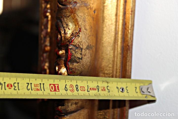 Antigüedades: Espejo marco de madera y pan de oro. 1940. 90 x 76 cm - Foto 18 - 205579938