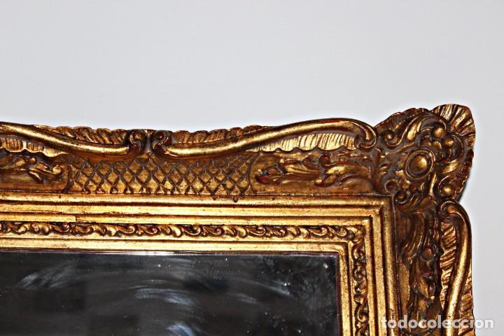 Antigüedades: Espejo marco de madera y pan de oro. 1940. 90 x 76 cm - Foto 19 - 205579938