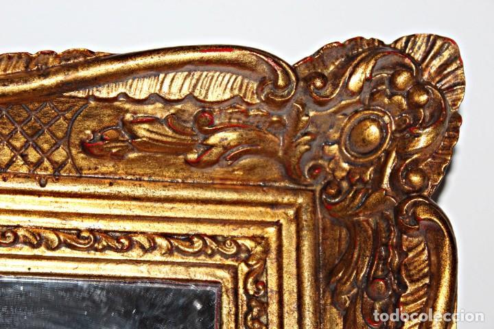 Antigüedades: Espejo marco de madera y pan de oro. 1940. 90 x 76 cm - Foto 20 - 205579938