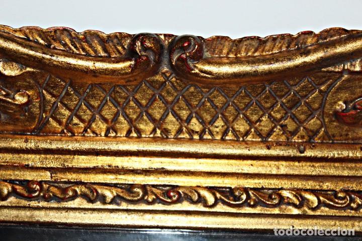 Antigüedades: Espejo marco de madera y pan de oro. 1940. 90 x 76 cm - Foto 21 - 205579938