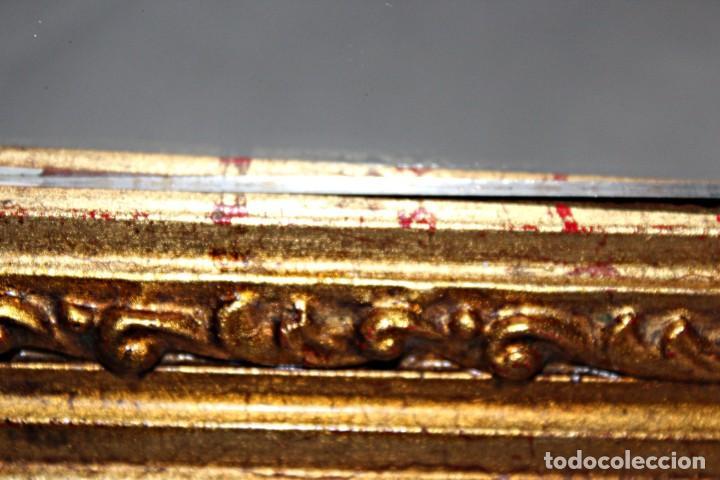 Antigüedades: Espejo marco de madera y pan de oro. 1940. 90 x 76 cm - Foto 24 - 205579938