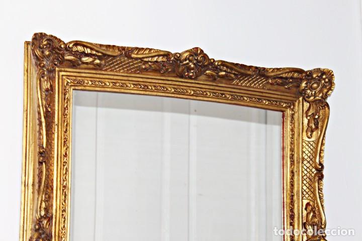 Antigüedades: Espejo marco de madera y pan de oro. 1940. 90 x 76 cm - Foto 28 - 205579938
