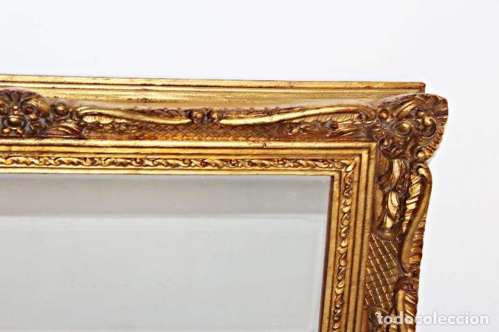 Antigüedades: Espejo marco de madera y pan de oro. 1940. 90 x 76 cm - Foto 29 - 205579938