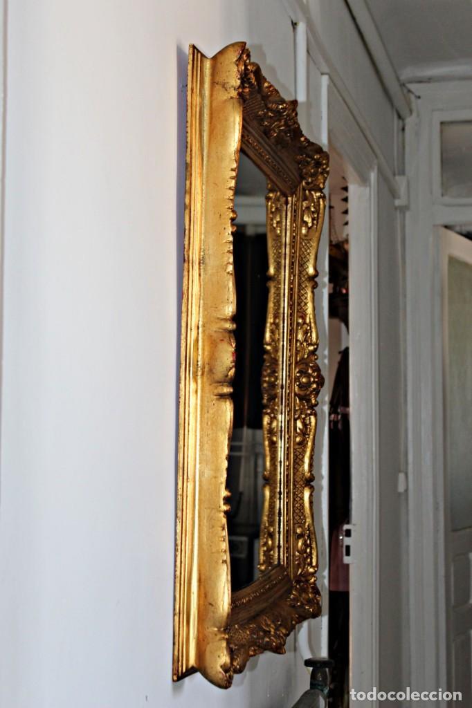 Antigüedades: Espejo marco de madera y pan de oro. 1940. 90 x 76 cm - Foto 31 - 205579938