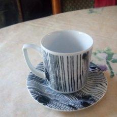 Antigüedades: PRECIOSO SOLITARIO DE CAFÉ DE PORCELANA TETTAU GERMANY, DESING BY VERENA SAGER.97. Lote 205586502
