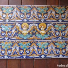 Antigüedades: AZULEJOS PINTADOS RAMOS REJANO. Lote 205587193