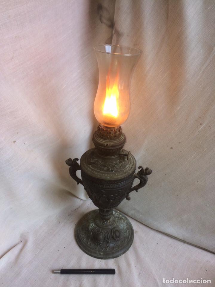 MUY ANTIGUO QUINQUE DEL SIGLO 18-19 (Antigüedades - Iluminación - Quinqués Antiguos)
