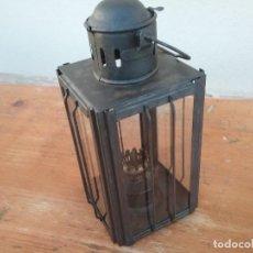 Antigüedades: FAROL CUADRADO DE ACEITE. Lote 205595725