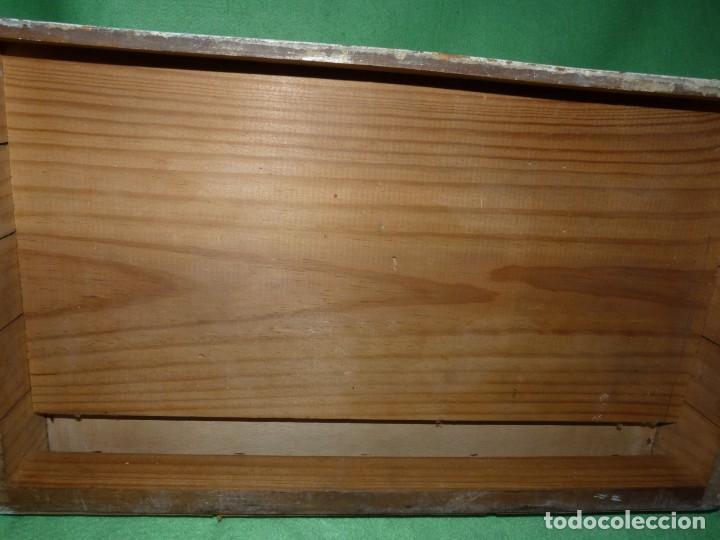 Antigüedades: Antigua cajonera mueble publicidad C. A. Hilaturas de Fabra y Coats Mercería pintado para restaurar - Foto 10 - 205596612