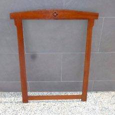 Antigüedades: ANTIGUO MARCO DE MADERA DE 85 X 67 CM.MARQUETERIA.IDEAL ESPEJO. ART DECO - AÑOS 20. Lote 205606271