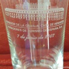 Antigüedades: VASO DE LA REAL FABRICA DE CRISTALES DE LA GRANJA. Lote 205653275