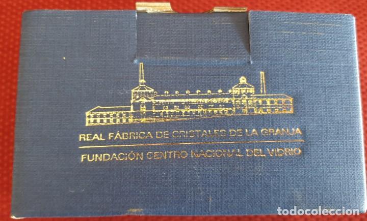 Antigüedades: VASO DE LA REAL FABRICA DE CRISTALES DE LA GRANJA - Foto 3 - 205653275