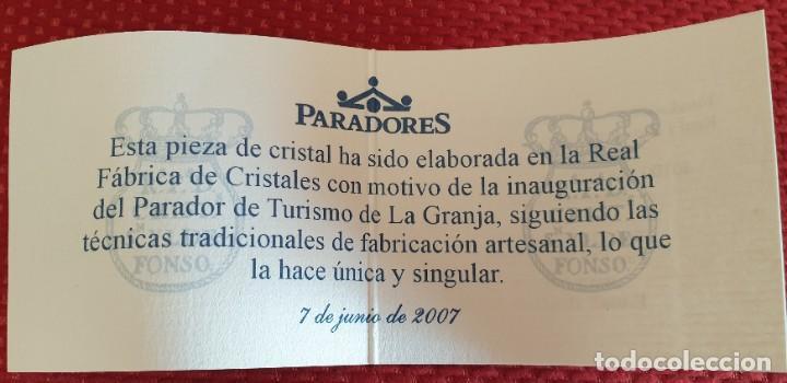 Antigüedades: VASO DE LA REAL FABRICA DE CRISTALES DE LA GRANJA - Foto 6 - 205653275