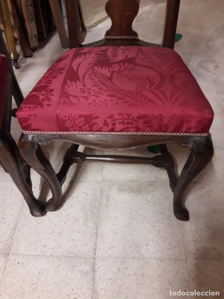 Antigüedades: Pareja sillas siglo xviii - Foto 2 - 205658831