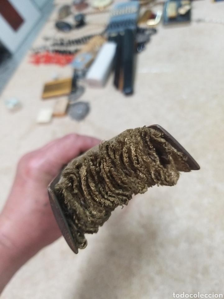 Antigüedades: Abanico de tela antiguo pintado a mano - Foto 4 - 205660377