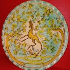 Antigüedades: PLATO DE CERAMICA - PUENTE DEL ARZOBISPO SANTA FE - ESCENA ANIMAL. Lote 205660701