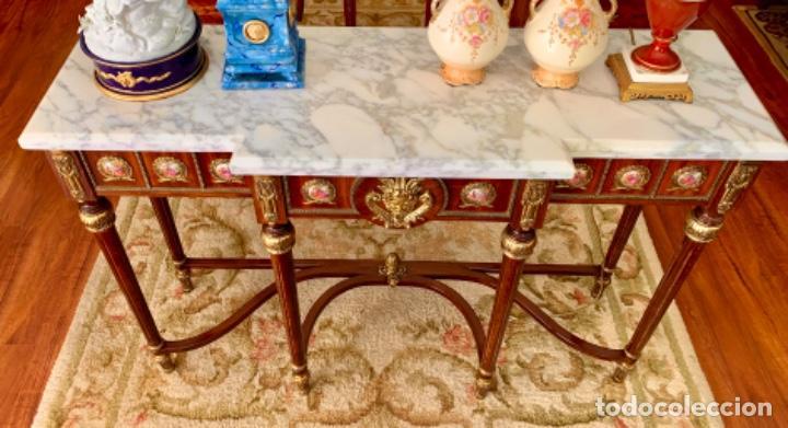Antigüedades: Exquisita consola antigua - Foto 13 - 205662820