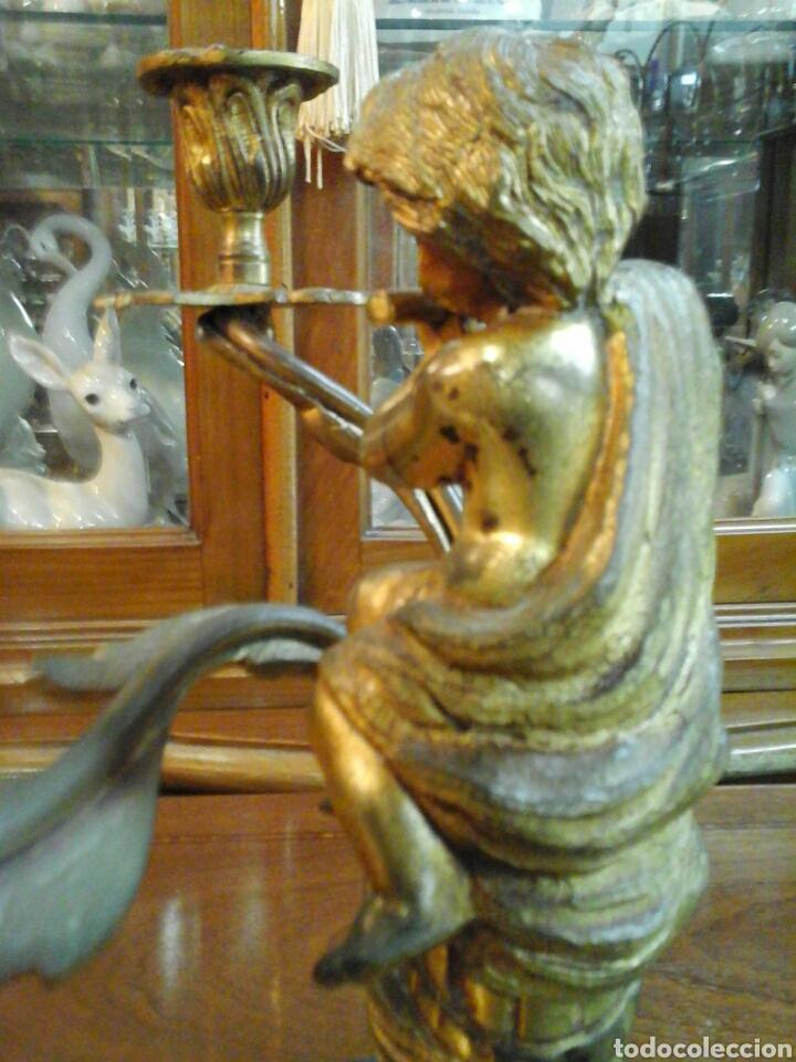 Antigüedades: Pareja de candelabros bronce - Foto 5 - 205669232
