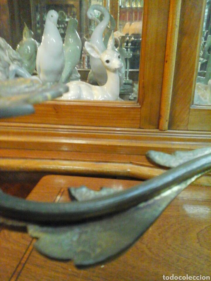 Antigüedades: Pareja de candelabros bronce - Foto 6 - 205669232