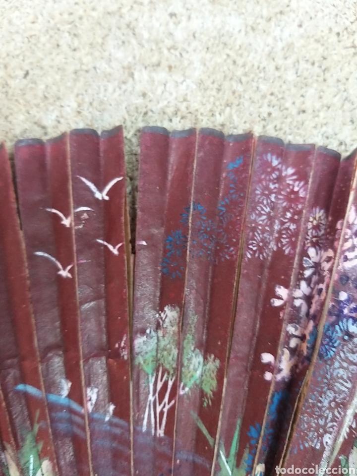 Antigüedades: Abanico de papel pintado a mano - Foto 6 - 205669532