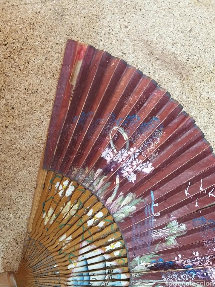 Antigüedades: Abanico de papel pintado a mano - Foto 11 - 205669532