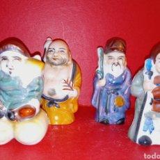 Antiquités: BUDAS DE PORCELANA CHINA - DE LA SUERTE Y LA FORTUNA. Lote 205670826
