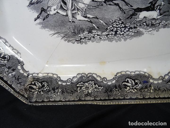 Antigüedades: Mide 44 cmts.--fuente cartagena lañada, sello. lañas - Foto 3 - 205671113