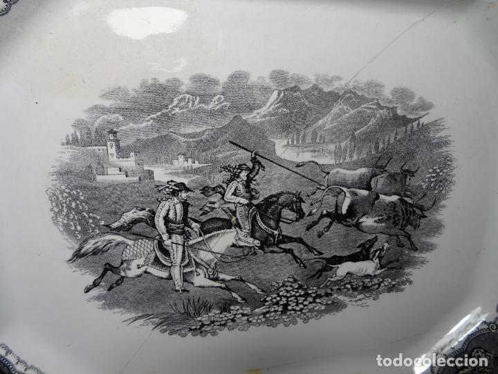 Antigüedades: Mide 44 cmts.--fuente cartagena lañada, sello. lañas - Foto 4 - 205671113