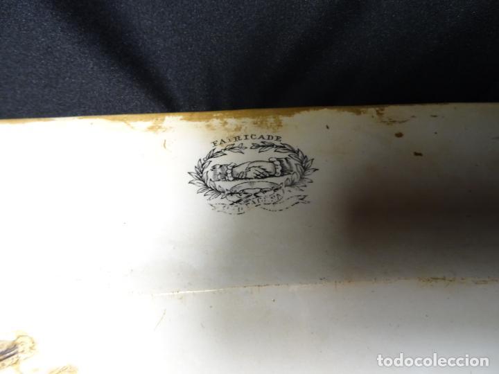 Antigüedades: Mide 44 cmts.--fuente cartagena lañada, sello. lañas - Foto 7 - 205671113