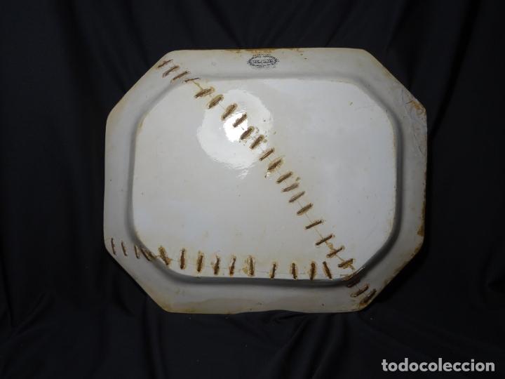 Antigüedades: Mide 44 cmts.--fuente cartagena lañada, sello. lañas - Foto 8 - 205671113
