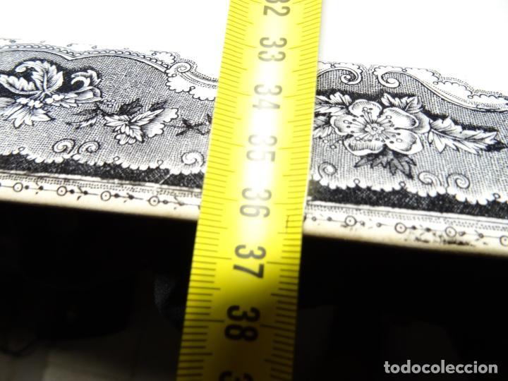 Antigüedades: Mide 44 cmts.--fuente cartagena lañada, sello. lañas - Foto 12 - 205671113