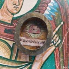 Antigüedades: RELICARIO CON RELIQUIA DE SANTA BEATRIZ. Lote 205673012