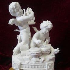 Antigüedades: GRUPO DE PORCELANA ALGORA EN BISCUIT. Lote 205674360