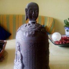 Antigüedades: CAMPANA BUDA EN METAL ES PRECIOSA. Lote 205677107