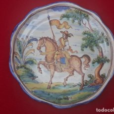 Antigüedades: PLATO ANTIGUO EN CERAMICA DE TALAVERA DE LA REINA ( TOLEDO ) FIRMADA.. Lote 205679132