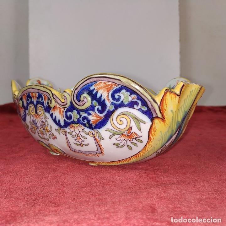 Antigüedades: CENTRO DE MESA O SALSERA. LOZA DE DELFT (?) ESMALTADA. HOLANDA. XIX - Foto 5 - 205681547