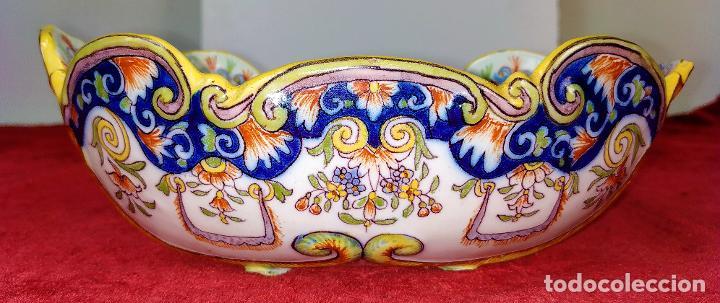 CENTRO DE MESA O SALSERA. LOZA DE DELFT (?) ESMALTADA. HOLANDA. XIX (Antigüedades - Porcelana y Cerámica - Holandesa - Delft)