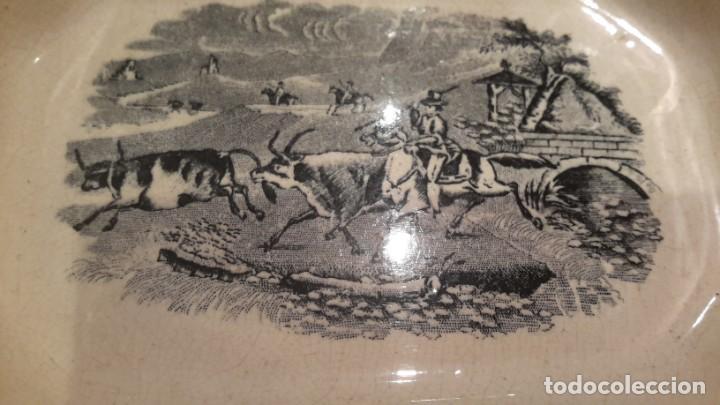 Antigüedades: LOZA DE CARTAGENA. FAB. LA AMISTAD. FUENTE OCHAVADA. - Foto 2 - 205683853