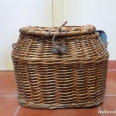 Antigüedades: CESTA PESCADOR. Lote 205684055