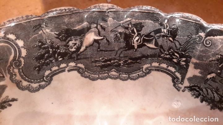 Antigüedades: LOZA DE CARTAGENA. FAB. LA AMISTAD. FUENTE HONDA POLILOBULADA. - Foto 8 - 205684491